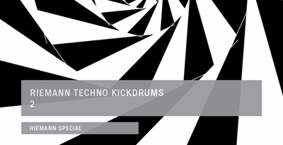 Riemann techno kickdrums 2 banner